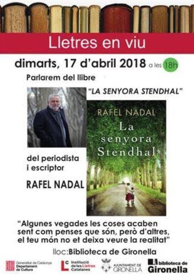 Xerrada amb RAFEL NADAL @ Biblioteca de Gironella