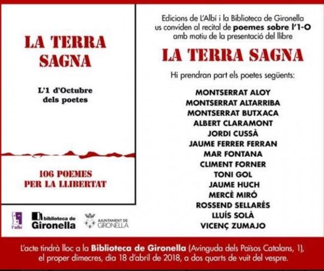 """Presentació del llibre """"LA TERRA SAGNA"""" @ Biblioteca de Gironella"""