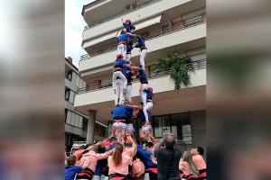 Els Castellers de Berga firmen la millor actuació de la temporada a la Festa Major de Puig-reig