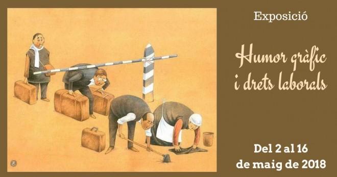 """Exposició """"Humor gràfic i drets laborals"""" @ Biblioteca Ramon Vinyes i Cluet (BERGA)"""