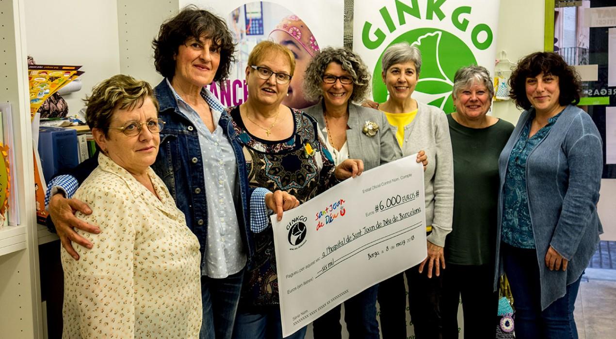 Ginkgo recapta 6.000 euros i els dona a la investigació del càncer infantil de l'Hospital Sant Joan de Déu