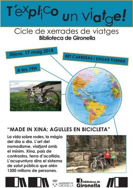 T'explico un viatge – MADE IN XINA: AGULLES EN BIBICLETA @ Biblioteca de Gironella