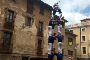 Els Castellers de Berga completen tres castells de 7 en una diada ràpida i sense incidents a Centelles