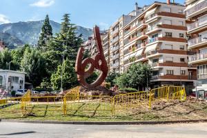 Es compleixen deu anys de la instal·lació del monument de la Patum al passeig de la Pau de Berga
