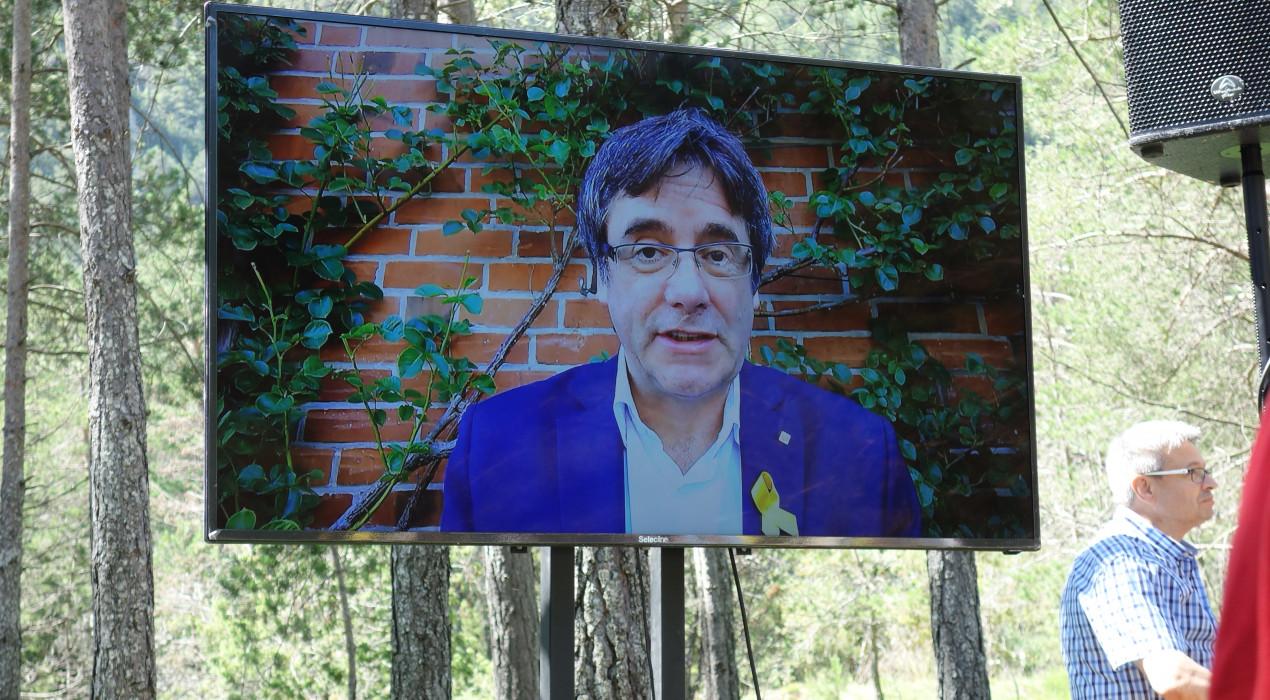 El missatge de Carles Puigdemont a l'Aplec del Pi de les Tres Branques