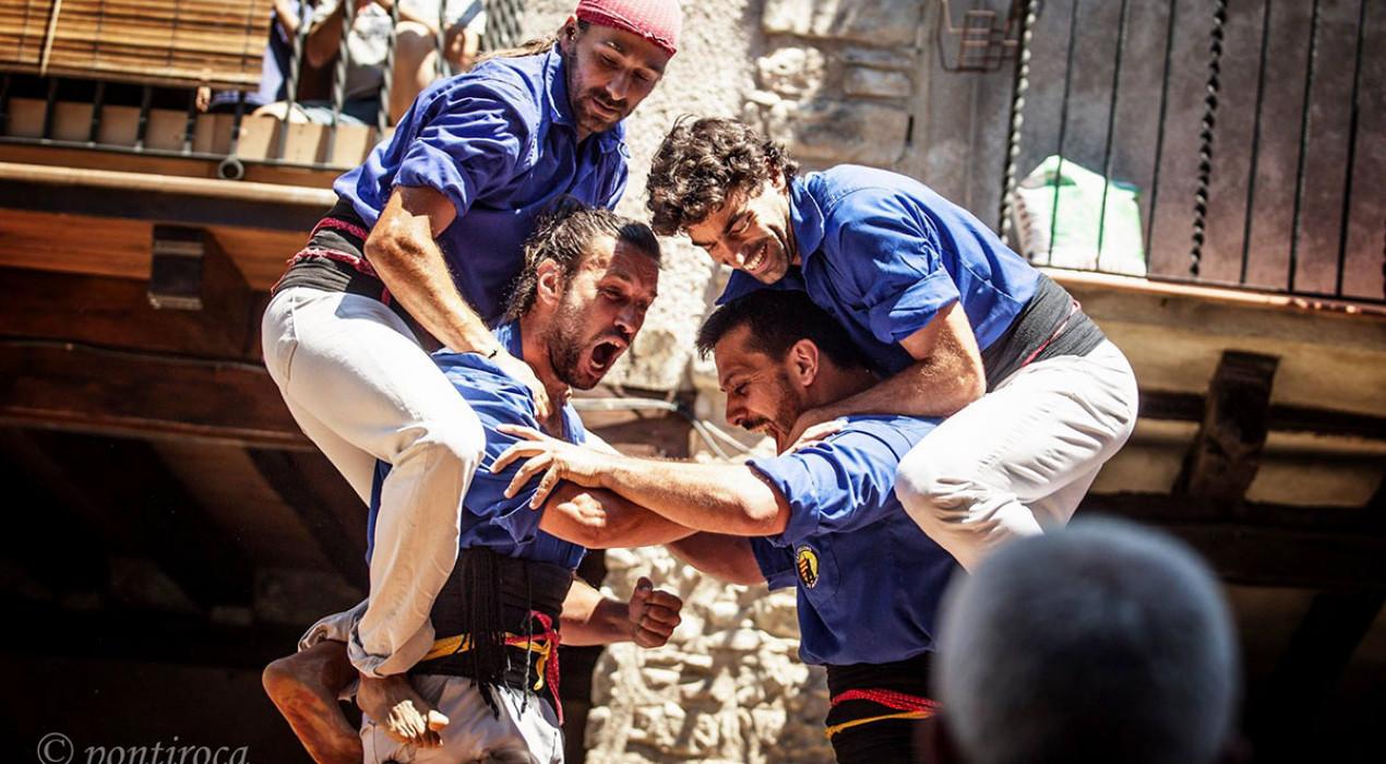 La segona torre de 7 de la temporada acosta els Castellers de Berga al concurs de Tarragona