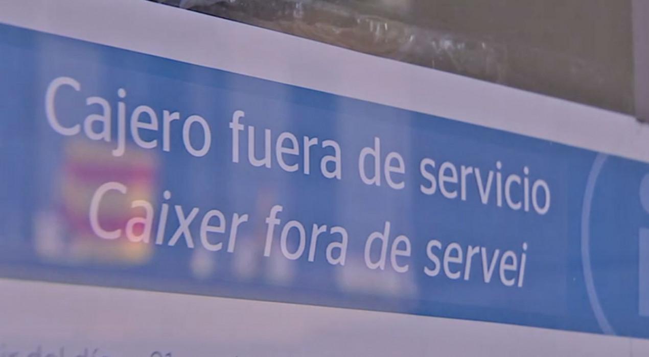 L'únic caixer de Vilada i Borredà tanca, tal com va anunciar, i obliga els residents a baixar a Berga per treure diners