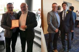 Josep Lara viatja a Brussel·les per agrair la Creu de Sant Jordi a Lluís Puig i Carles Puigdemont