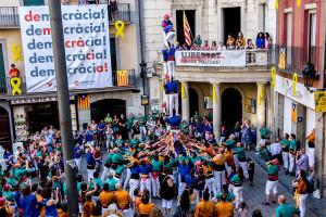 Els Castellers de Berga fan els deures i se'n van de vacances amb un peu al Concurs de Castells de Tarragona