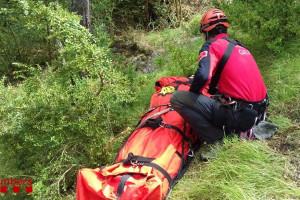 Els GRAE rescaten un home de 62 anys ferit a Gresolet
