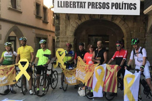 """La iniciativa """"Pedalem pels presos polítics"""" passarà pel Berguedà el dissabte 25 d'agost"""