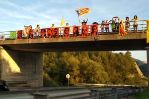 La iniciativa 'Ponts per la Llibertat' s'expandeix al Berguedà i ja es porta a terme a Berga, Cercs i Bagà