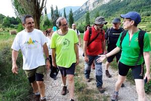 El president de la Generalitat, Quim Torra, de ruta pel Camí dels Bons Homes