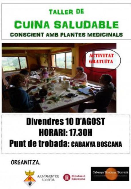 TALLER DE CUINA SALUDABLE @ CABANYA BOSCANA (Borredà)