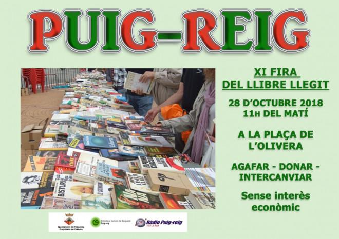 XI FIRA DEL LLIBRE LLEGIT @ Plaça de l'Olivera (PUIG-REIG)