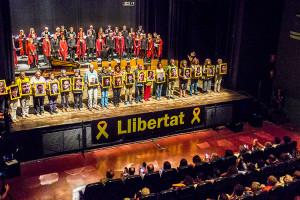 La poesia dels Països Catalans s'exhibeix a Berga i exigeix l'alliberament dels presos polítics