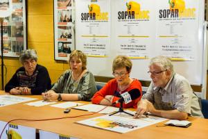 El pavelló de Sant Jordi de Cercs es prepara per acollir el 'sopar groc' més multitudinari del Berguedà