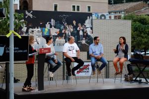 Gironella reivindica les persones que van fer possible l'1-O amb un acte a la plaça de l'Estació
