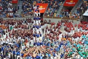 Els Castellers de Berga fan història a Tarragona amb una nova torre de 7 i el primer carro gros de l'any