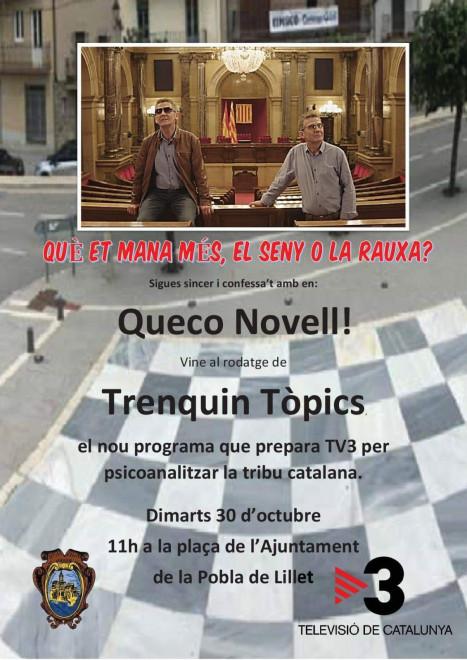 Vine al rodatge de TRENQUIN TÒPICS @ Plaça de l'Ajuntament (LA POBLA DE LILLET)