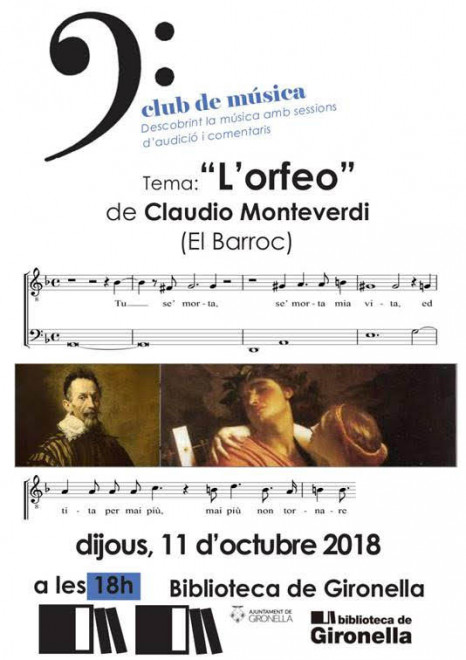 CLUB DE MÚSICA - L'Orfeo de Monteverdi @ Biblioteca de Gironella
