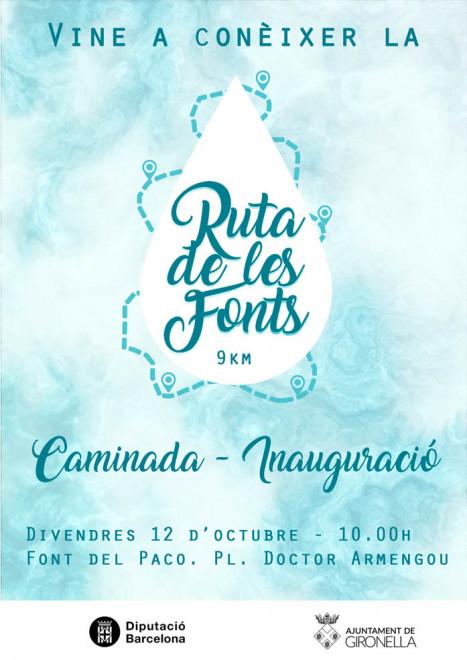 Caminada - Inauguració ruta de les fonts de Gironella @ Font del Paco - Plaça Doctor Armengou (GIRONELLA)