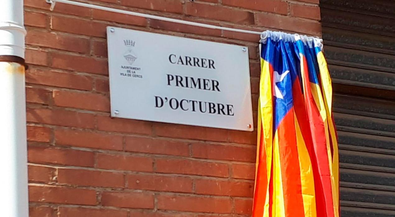 Cercs inaugura el primer carrer dedicat a l'1 d'Octubre al Berguedà