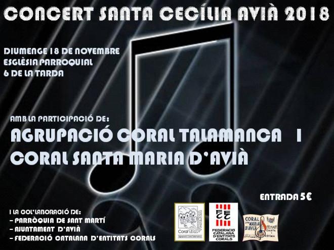 Concert de Santa Cecília 2018 @ Església parroquial d'AVIÀ