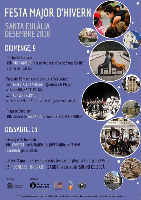 Festa Major d'hivern - Santa Eulàlia 2018 @ Berga