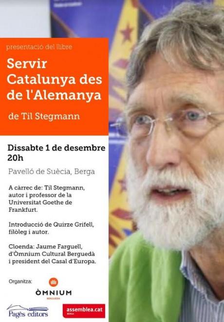 """Presentació llibre: """"Servir Catalunya des de l'Alemanya"""" @ Pavelló de Suècia (BERGA)"""