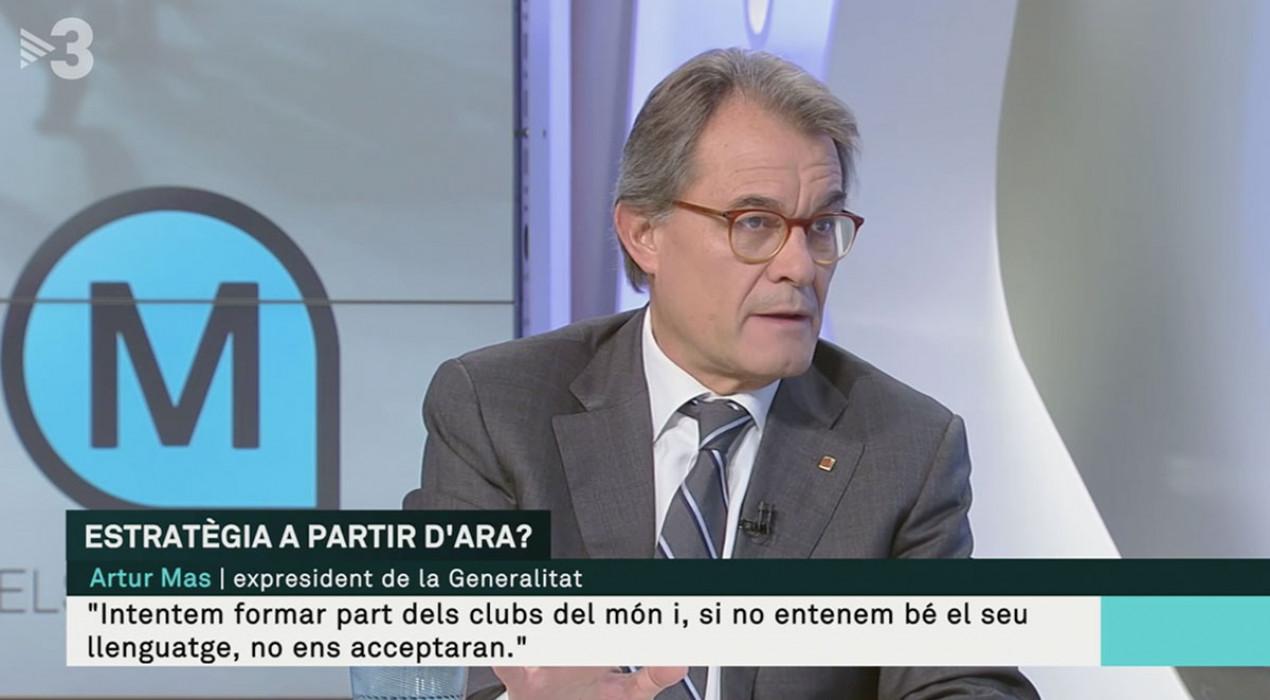 """Artur Mas, a TV3: """"La desobediència de l'alcaldessa de Berga, Montse Venturós, és de cartró pedra"""""""