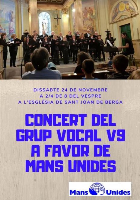 Concert del grup vocal V9 @ Església de Sant Joan de Berga