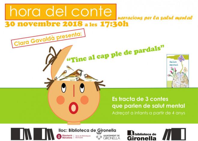 """L'HORA DEL CONTE: """"Tinc el cap ple de pardals"""" @ Biblioteca de Gironella"""