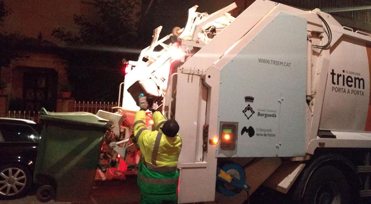 Canvis en alguns horaris de la recollida porta a porta al Berguedà per Nadal