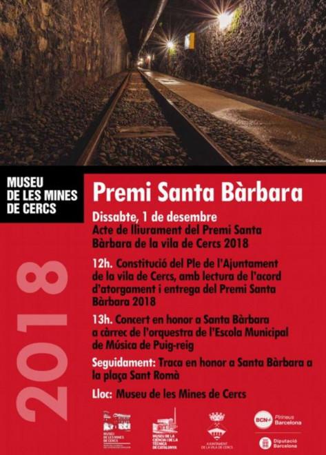 Premi Santa Bàrbara 2018 @ Museu de les Mines de Cercs
