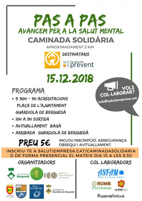 Caminada solidària Pas a pas @ Plaça de l'Ajuntament de GUARDIOLA DE BERGUEDÀ