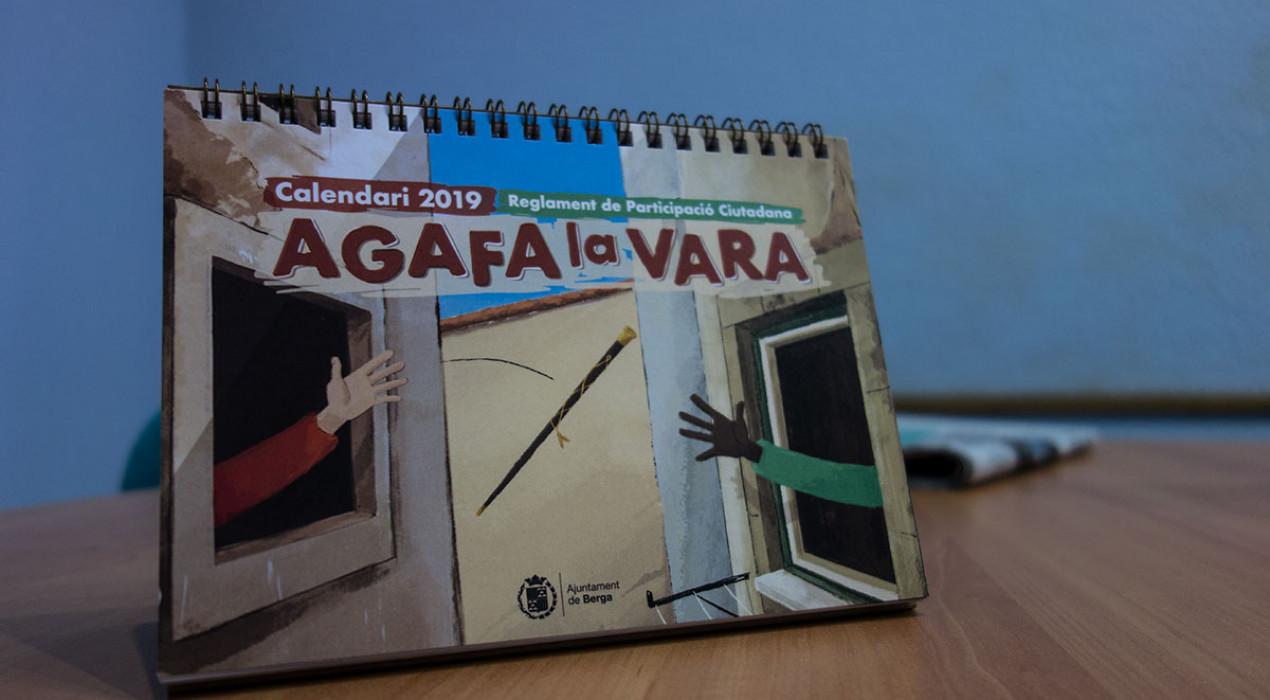 L'Ajuntament de Berga edita un calendari de taula que explica les eines del nou reglament de participació ciutadana