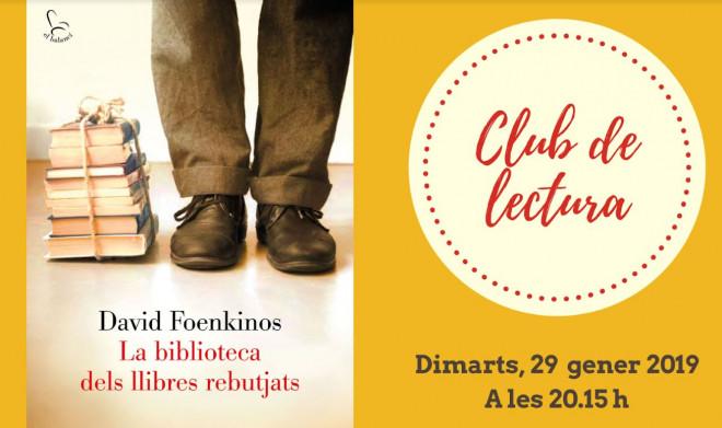 Club de lectura amb David Foenkino @ Biblioteca Ramon Vinyes i Cluet (BERGA)