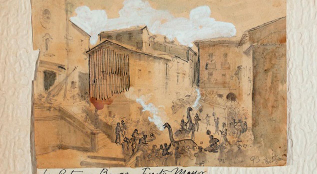 El Museu Comarcal adquireix en una subhasta el record més antic d'un salt de Patum amb dues guites