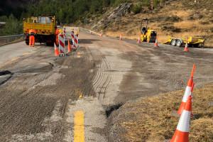 Comencen les obres a la carretera entre Saldes i Gósol perquè els cotxes evitin l'esquerda gegant