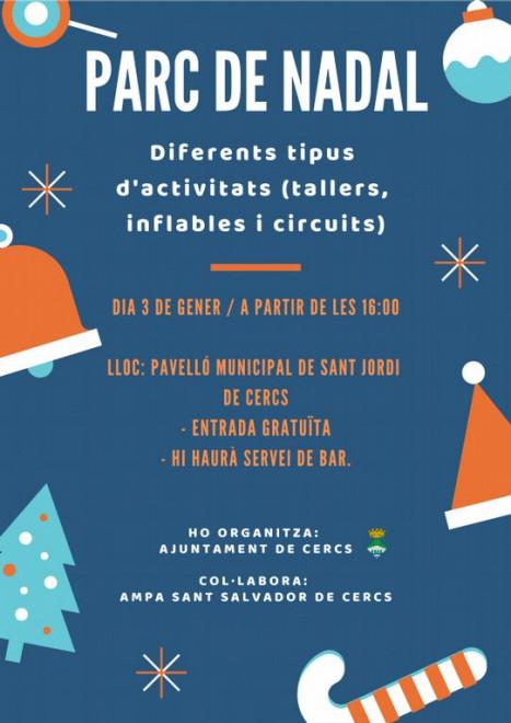 Parc de Nadal a Sant Jordi de Cercs 2018 @ Pavelló Municipal de Sant Jordi de Cercs