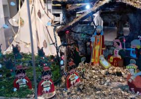Grup Horitzó crea un pessebre fet amb figures de les comparses de la Patum