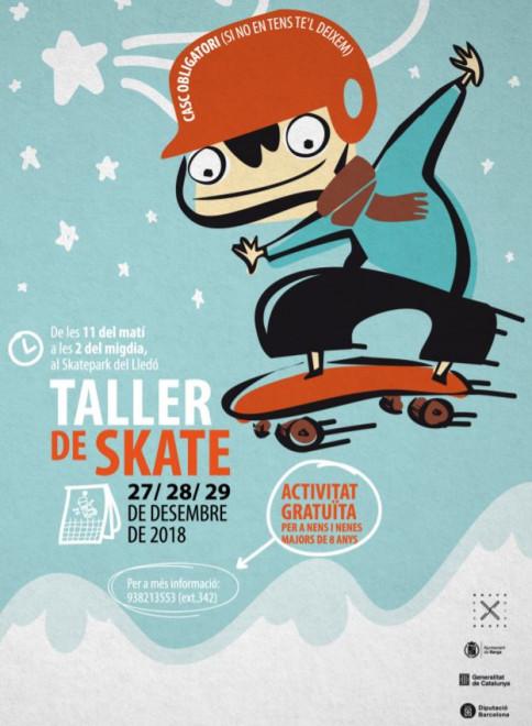 TALLER DE SKATE 2018 @ Skatepark del Lledó (BERGA)