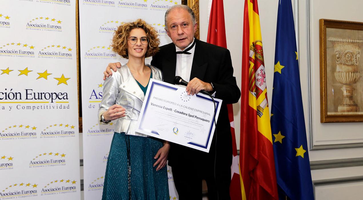 El saló de bellesa de Berga Spel Perruquers, distingit amb el Premi Europeu de Qualitat Empresarial