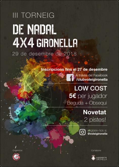 III Torneig de Nadal 4x4 Volei Gironella @ Pavelló Municipal de Gironella