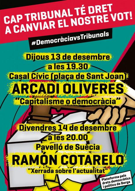 Xerrada a càrrec d'ARCADI OLIVERES @ Casal Cívic (Plaça Sant Joan de BERGA)