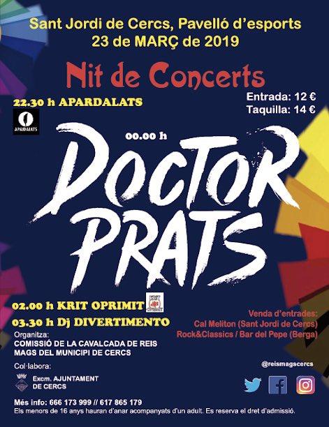 Doctor Prats @ Pavelló de SANT JORDI DE CERCS