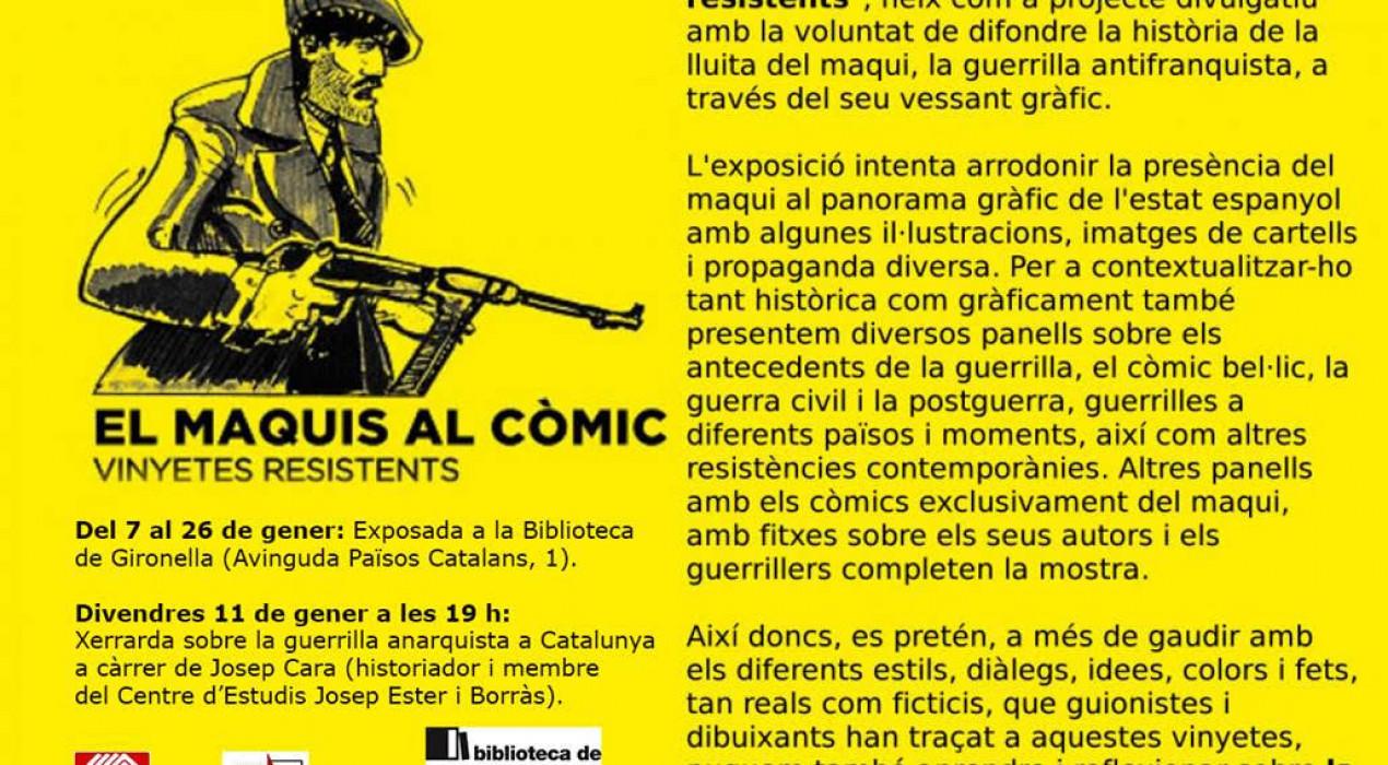 """""""EL MAQUIS AL CÒMIC: VINYETES RESISTENTS"""""""