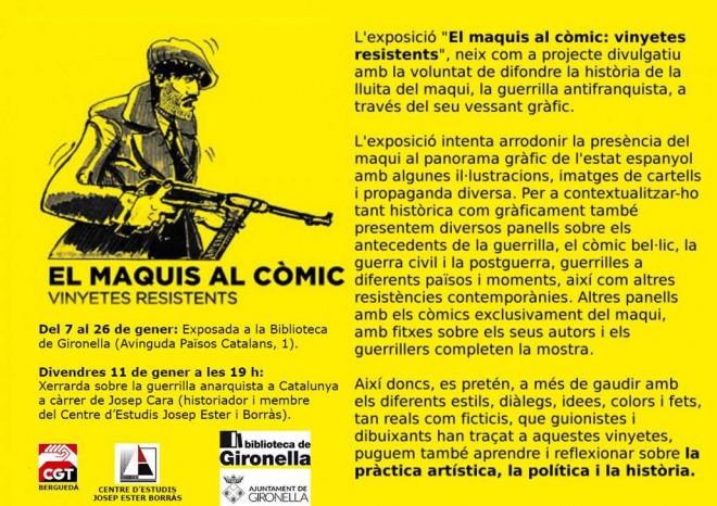 """""""EL MAQUIS AL CÒMIC: VINYETES RESISTENTS"""" @ Biblioteca de Gironella"""
