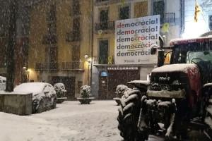 L'Ajuntament de Berga va rebre l'avís oficial de nevada quan feia més de dues hores que nevava a la ciutat